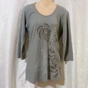 ERGE Designs Thermal Knit Print Long Sleeve Top *